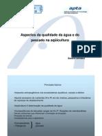 Aspectos da qualidade da água e do pescado na aquicultura - cianobacteria