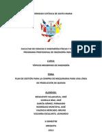 02-Plan de Gestión para la Compra de Maquinaria para una Línea de Producción de Quesos