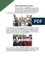 Costumbres y Tradiciones Del Ecuador