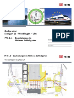 Zeitplan der Bahn zu den S21 Bauleistungen