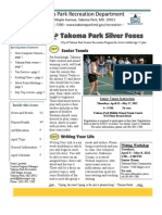 Silver Foxes Newsletter - April 2012 from the Takoma Park Recreation Department