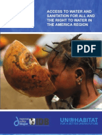 Access to Water and Sanitation for All and the Human Right to Water in the Americas