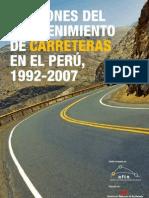 Estudio - Lecciones del mantenimiento de carreteras en el Perú, 1992-200701