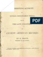 An Interesting Account of Several Remarkable Visions, And of the Late Discovery of Ancient American Records 1840