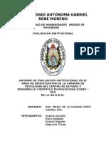 Informe final evaluación U.A.G.R.M.