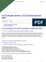 CCNA 4 Final answers (100% Guaranteed – Updated Dec 2010) | CCNA Exam Answers