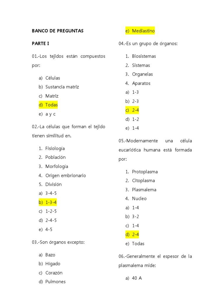 Lujoso Anatomía Y Fisiología 1 Preguntas Del Examen Final Cresta ...