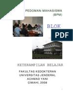 Buku Pedoman Mahasiswa BlokI 08