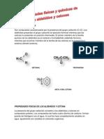 Aldehidos y Cetona des Fisicas y Quimicas