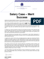 Circular 21 Salary Case Merit Decision