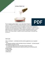 Aliphatic Acrylic Polyurethane Finish Coat