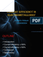 Current efficiency in electrometallurgy (revision)