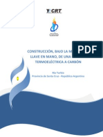 Central termoeléctrica a carbón en la localidad de Río Turbio