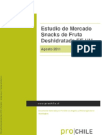 Chile - Estudio Mercado - Snacks de Fruta ada en Estados Undios - Agosto 2011 - ProChile