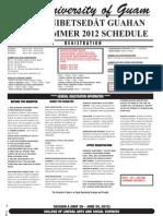 Uog Summer Schedule 2012