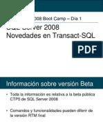 102 - SQL 2008 - Transact-SQL News ES