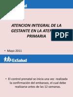 Atencion Integral Del La Gestante en La Atencion Primaria Lic. Flor Agurto