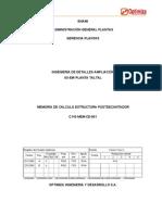 Memoria de Cálculo - Estructura Postdecantador