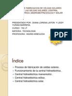 Proceso de Fabricacion de Celdas Solares Funcion De