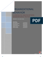 76568972 Organizational Behavior Comparison Between 2 Companies
