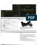 1982 GL1100 Aspencade Owners Manual