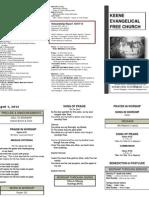 Church Bulletin -April 1st