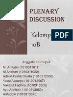 PLENARY Discussion Minggu 1 Blok 2.1 Kelompok 10B