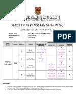 Contoh Kontrak Latihan Murid Tahun 2 Kssr 2012