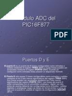 Módulo ADC del pic16f877