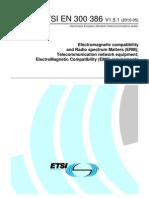 En 300386v010501 Telecom Network Equipment EMC Requirements
