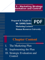 Chapter 5-Implementing & Managing Market-Driven Strategies