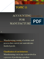 Topic 11-Manufacturing Account