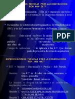 ESPECIFICACIONES  TECNICAS  PARA LA CONSTRUCCIÓN  NCH  1156  Of