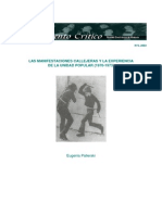 LAS MANIFESTACIONES CALLEJERAS Y LA EXPERIENCIA DE LA UNIDAD POPULAR (1970-1973)