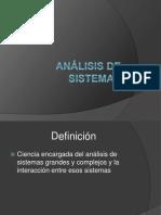 Análisis de Sistemas