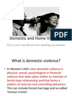 Domestic and Home Violence