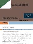 Central Value Added Tax Ppt @ Bec Doms Bagalkot Mba