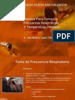 Técnica Para Toma De Frecuencia Respiratoria