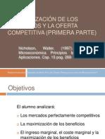 La Maximizacion de Los Beneficios y La Oferta Competitiva Primera Parte