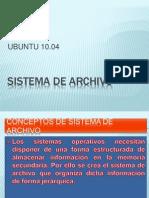 SISTEMA DE ARCHIVO