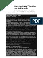 Pensamiento Psicológico- Filosofico de Carlos Manuel Quirce Balma