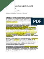 LA ARQUEOLOGÍA DEL SABER resumen
