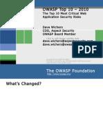 OWASP Top 10 - 2010 Presentation