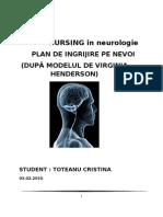 31248400 TOTEANU CRISTINA Plan de Nursing Neurologie PLAN de INGRIJIRE Cristinatoteanu Blogspot Com