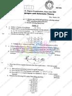 Formal Languages Automata Theory June July2009