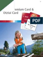 Ötztal Premium Card und Ötztal Card 2012