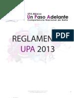 Reglamento UPA 2013