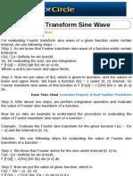 Fourier Transform Sine Wave