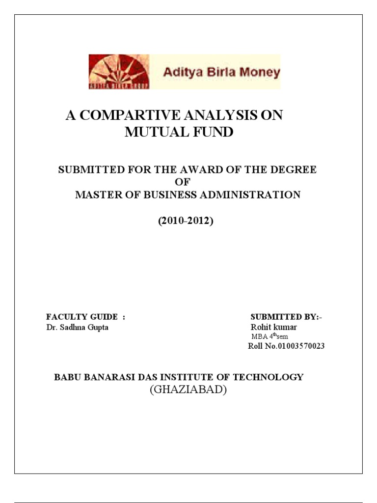aditya birla mutual fund mutual funds securities finance rh scribd com Stocks and Bonds Fund of Funds Structure