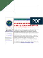 Marcha Mundial - Boletín 1 - Octubre 2008